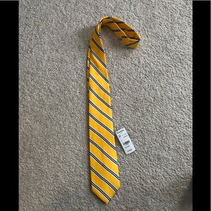 Yellow and blue striped Brooks Brothers tie
